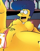 Cartoon milf Marge Simpson wants it badly from behind doggy style.