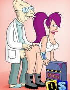 Horny old Futurama professor bangs Leela from…