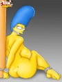 Nude cartoon Marge Simpson is tied and forced to suck dick. - picture 3