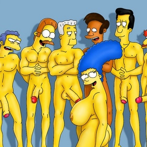 Toon wife Marge is going to serve 6 rockhard dicks.