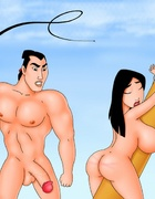 Big breasted Mulan is being punished for deceiving…