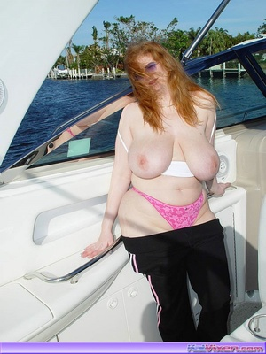 Topless Babe Likes To Play Around Boats - XXX Dessert - Picture 15