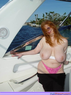 Topless Babe Likes To Play Around Boats - XXX Dessert - Picture 16