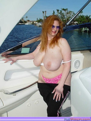 Topless Babe Likes To Play Around Boats - XXX Dessert - Picture 17