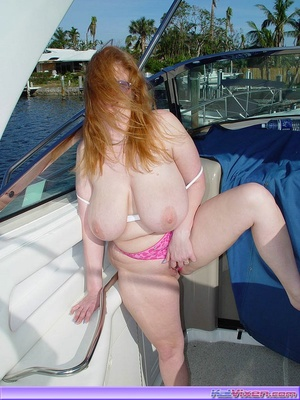 Topless Babe Likes To Play Around Boats - XXX Dessert - Picture 20