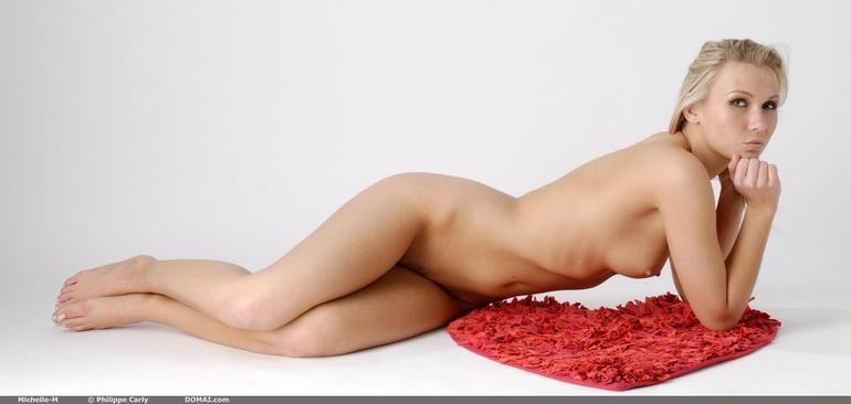 Woman posing naked nude