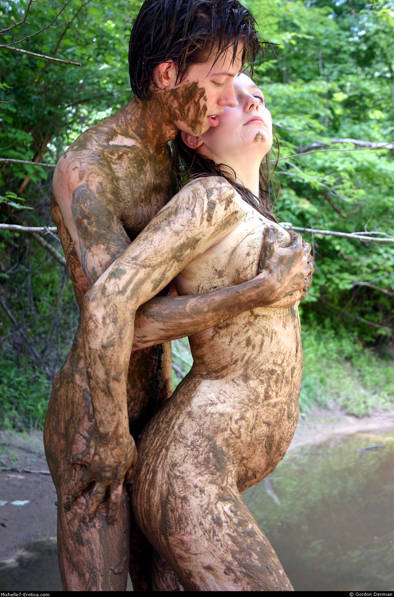 Assured, naked girls playing mud something is