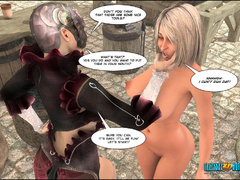 Kinky 3d Mistress in mask burn a dress of cool blonde - Picture 6