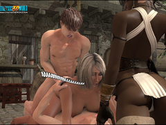 Pervert 3d toon mistress and her ebony assistant - Picture 2