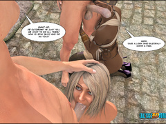 Dirty 3d porn cartoon with white and black enslaved - Picture 6