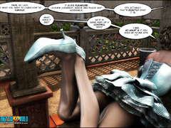 Pervert 3d toon mistress and her ebony assistant - Picture 6
