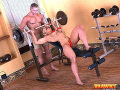 Blonde bitch with big muscles gets her pumped cunt - Picture 3