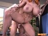 Lucky bald dude is happy to pound blonde and ginger bodybuilders with