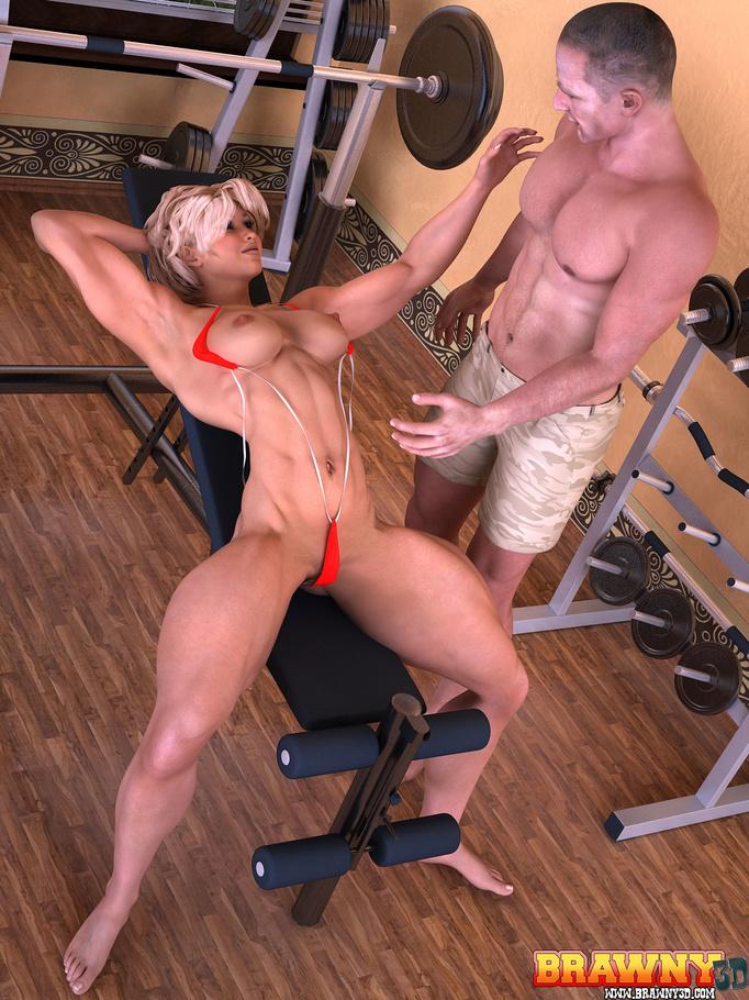 порно с фитнес бич