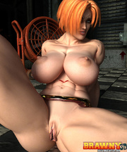 busty red bitch naked