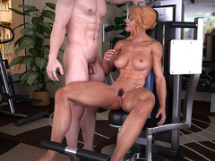 Blonde naked mom gets fucked eagerly on the - Picture 4