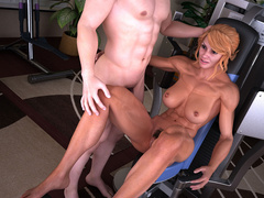 Blonde naked mom gets fucked eagerly on the - Picture 8