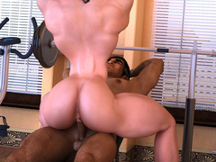 Two lustful bodybuilder girls pleasing each others' - Picture 1