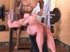 Two lustful bodybuilder girls pleasing each others' - Picture 4