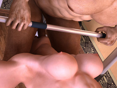Two lustful bodybuilder girls pleasing each others' - Picture 5