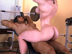 Swarthy brunette guy enjoys fucking busty muscular - Picture 10