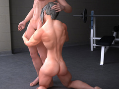 Two dirty muscular bitches licking and fingering each - Picture 3
