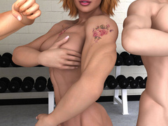 Two dirty muscular bitches licking and fingering each - Picture 10