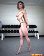 Hot muscular girl cannot resist a naughty workout…