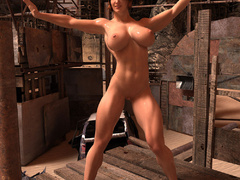 Busty red bitch with awesome body enjoys its naked - Picture 1