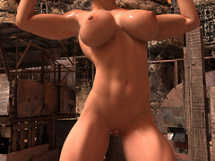 Busty red bitch with awesome body enjoys its naked - Picture 3