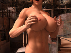 Busty red bitch with awesome body enjoys its naked - Picture 6