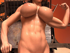 Busty red bitch with awesome body enjoys its naked - Picture 8