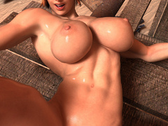 Nasty ginger bitch with huge boobs and muscular body - Picture 7
