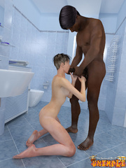 Big black 3d toon dude pounding hard white busty - Picture 4
