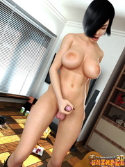 Gorgeous Asian ladyboy gets her cock sucked before - Picture 9