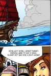 Rowdy pirate can not wait to celebrate her victory…