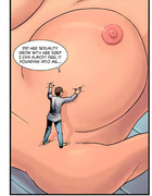 Crazy scientist playing with a huge nipple of a…
