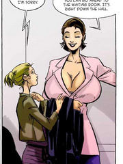 Lovely secretary in a pink jacket becomes bigger and - Picture 3
