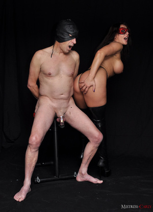 Busty long-haired mistress in a red mask - XXX Dessert - Picture 2