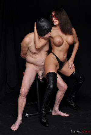 Busty long-haired mistress in a red mask - XXX Dessert - Picture 3