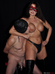 Busty long-haired mistress in a red mask - XXX Dessert - Picture 5