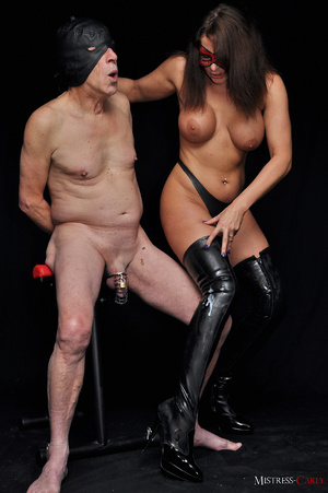Busty long-haired mistress in a red mask - XXX Dessert - Picture 7