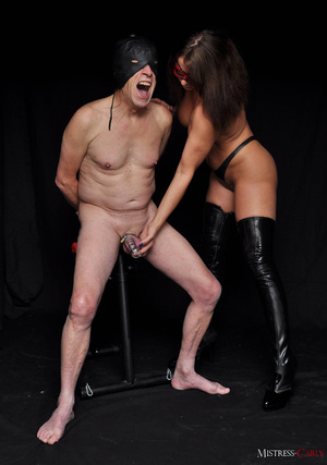 Busty long-haired mistress in a red mask - XXX Dessert - Picture 9