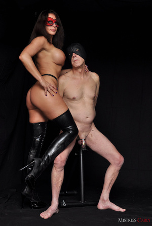 Busty long-haired mistress in a red mask - XXX Dessert - Picture 11
