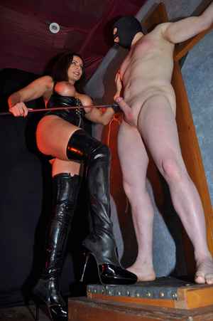 Gorgeous mistress in a black corset and  - XXX Dessert - Picture 2