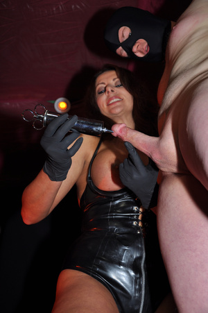 Gorgeous mistress in a black corset and  - XXX Dessert - Picture 7