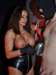 Gorgeous mistress in a black corset and - XXX Dessert - Picture 11