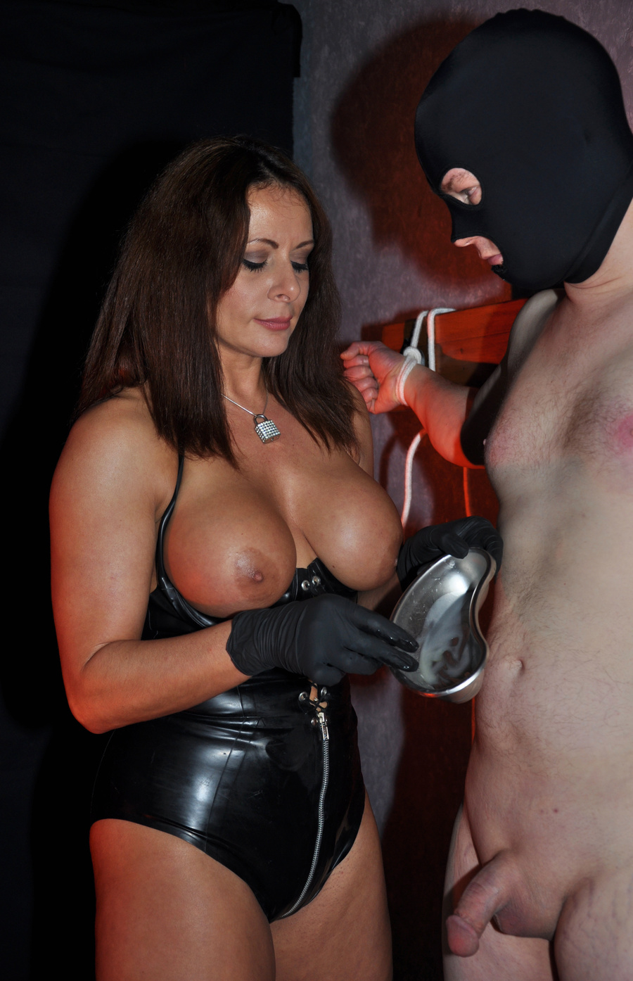 black shemale mistress ... Gorgeous mistress in a black corset and - XXX Dessert - Picture 11 ...