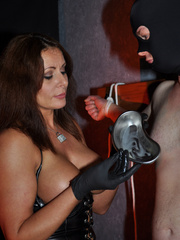 Gorgeous mistress in a black corset and - XXX Dessert - Picture 12