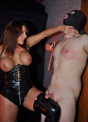 Gorgeous mistress in a black corset and  - XXX Dessert - Picture 14